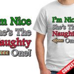 She is naughty t-shirt