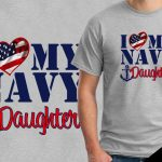 Veteran's Day T-shirts Navy Daughter